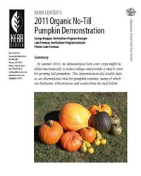 Heirloom Variety Trial Report 2011: Organic No-Till Pumpkin Demonstration