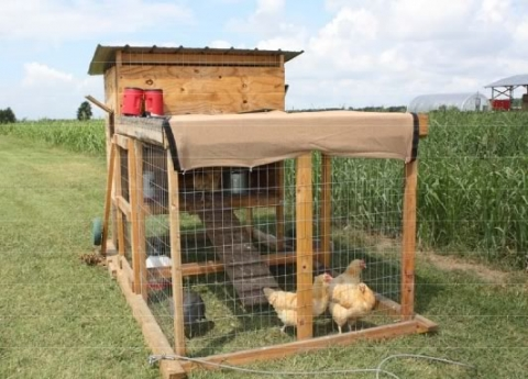 The Kerr Center Chicken Tractor 1.0: Description and Parts List