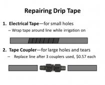 Slide #7 – Repairing Drip Tape