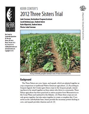 Heirloom Variety Trial Report 2012: Three Sisters