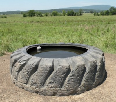 tractor tire water tank