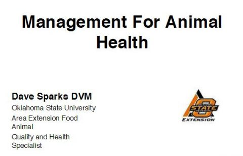 Management for Animal Health