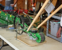 Seeder attachment for the Hoss wheel hoe