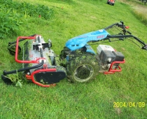 Flail mower for the BCS walk-behind tractor