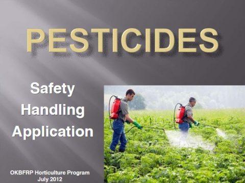 Pesticides: Safety, Handling, Application