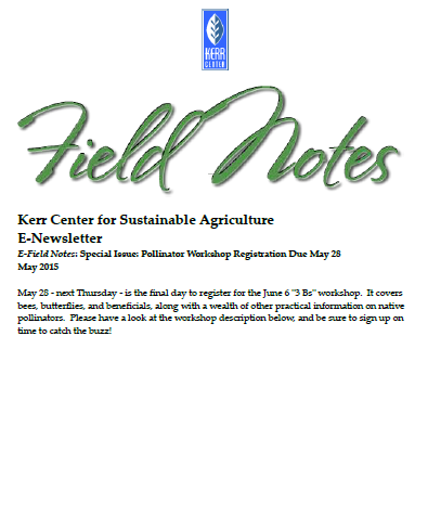 Field Notes – May 2015 (Special Issue)