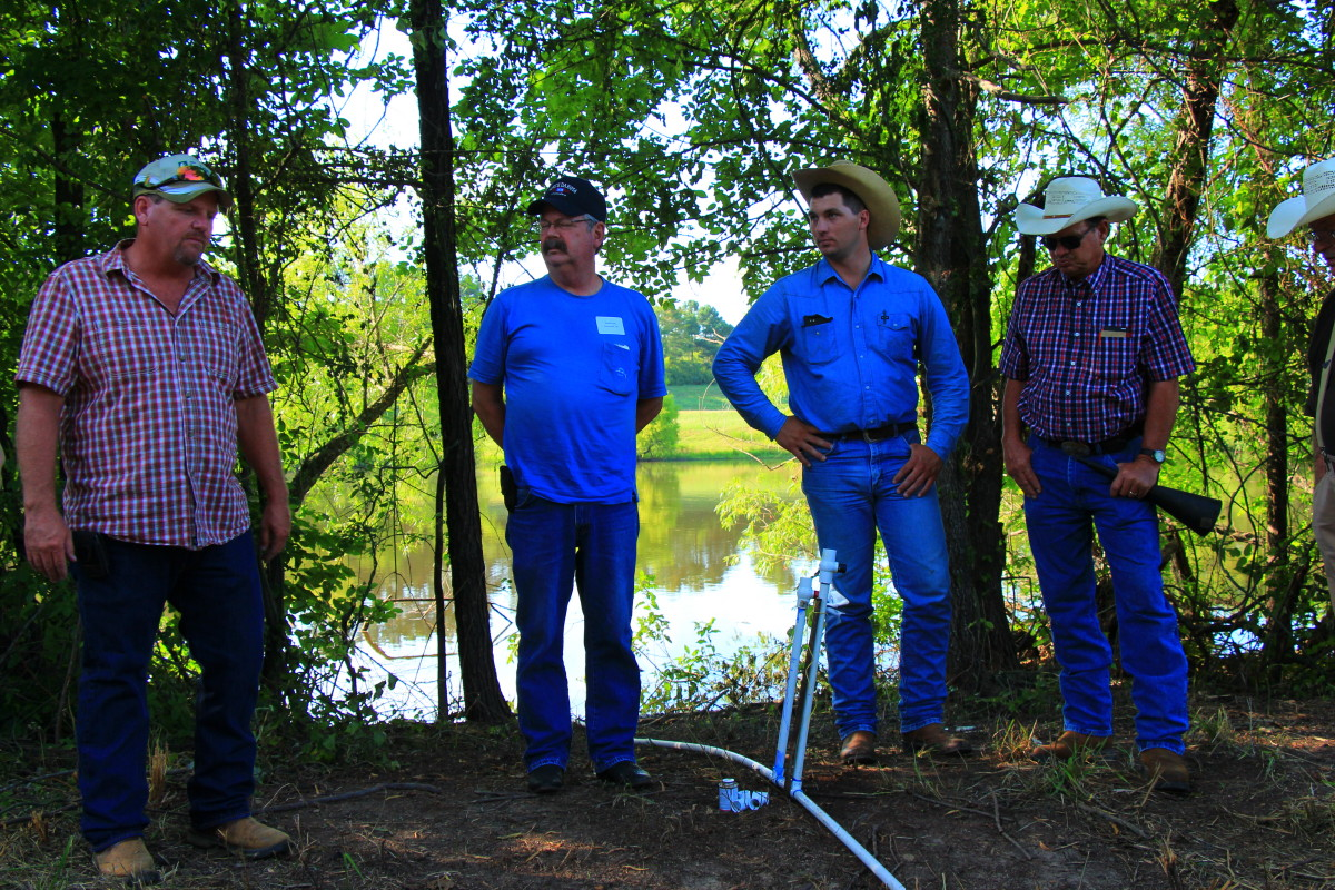 Simon Billy talks about siphoning water from a pond for ranch watering system