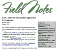 Field Notes – August 2015