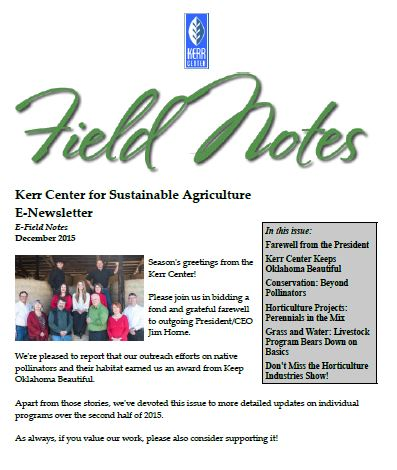 Field Notes – December 2015