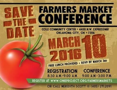 Oklahoma Farmers Market Conference @ Cole Community Center | Oklahoma City | Oklahoma | United States