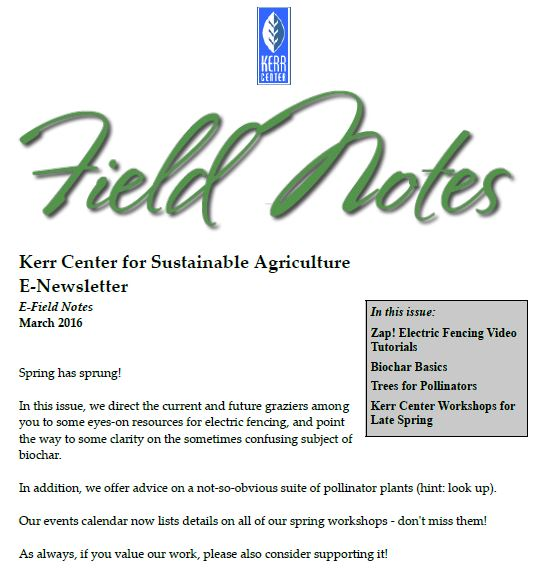 Field Notes – March 2016