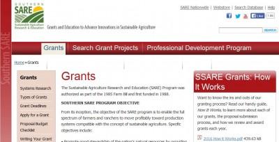 Deadline: Southern SARE Professional Development Program Grant Applications