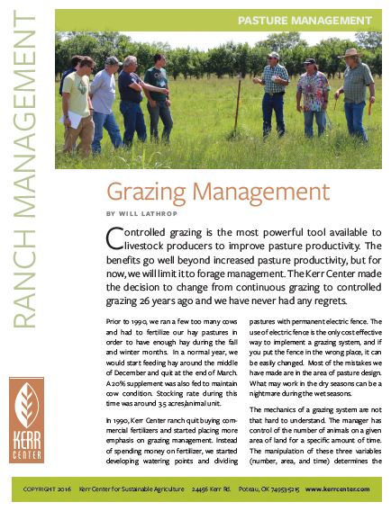 Fact Sheet: Grazing Management