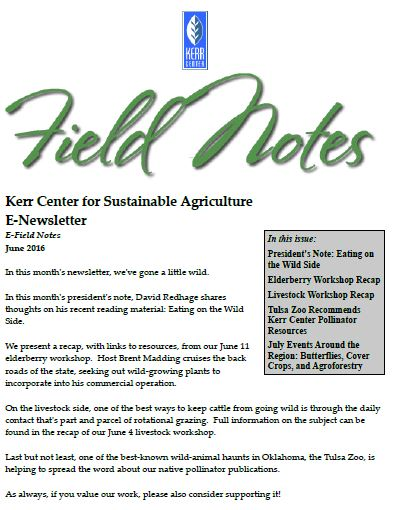 Field Notes – June 2016