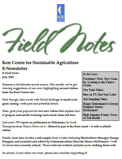 Field Notes – July 2016