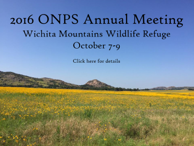 Oklahoma Native Plant Society Annual Meeting @ Wichita Mountains Wildlife Refuge Environmental Education Center | Medicine Park | Oklahoma | United States