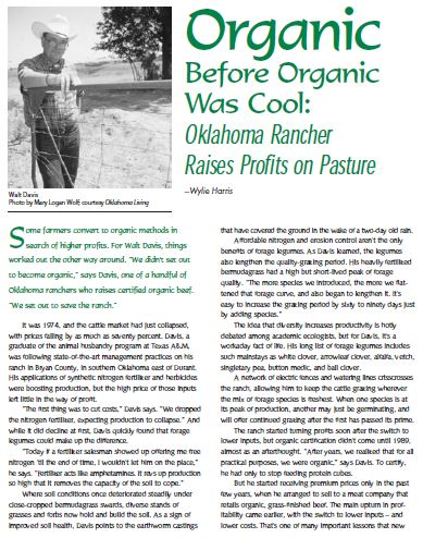 Organic Before Organic Was Cool: Oklahoma Rancher Raises Profits on Pasture