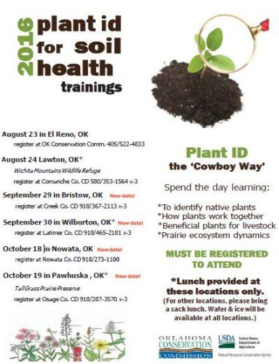 Plant ID for Soil Health Training @ Bristow | Bristow | Oklahoma | United States