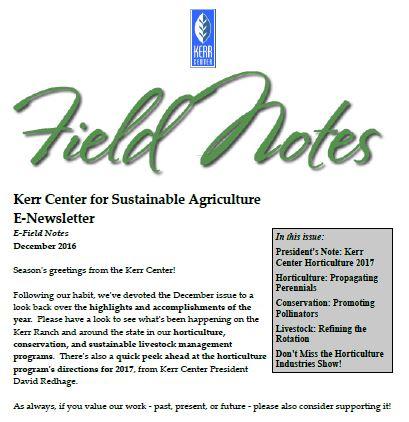 Field Notes – December 2016
