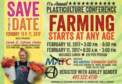 Plasticulture Conference @ Wayne (Mid America Technology Center) | Wayne | Oklahoma | United States