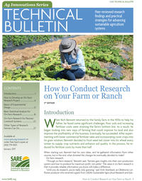 "SARE's Revised ""How to Conduct Research on Your Farm or Ranch"" Now Available"