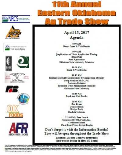 Eastern Oklahoma Ag Trade Show @ LeFlore County Fairgrounds