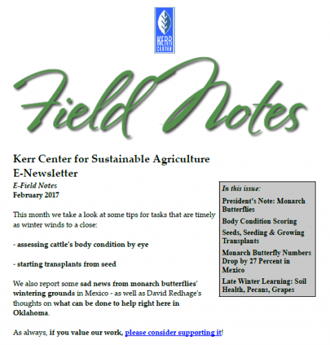 Field Notes – February 2017