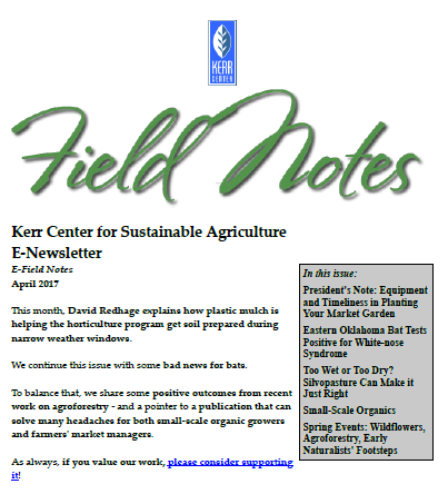Field Notes – April 2017