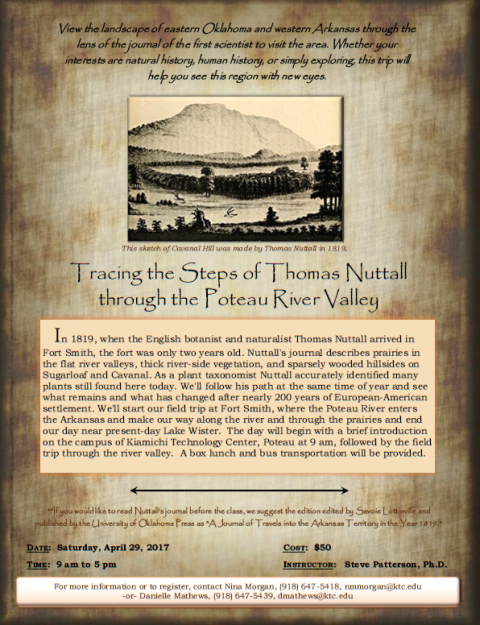 Tracing the Steps of Thomas Nuttall through the Poteau River Valley