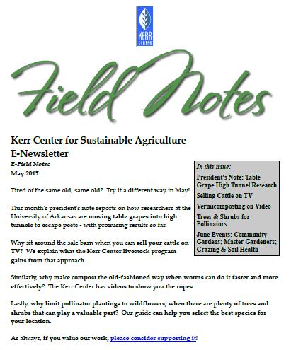 Field Notes – May 2017