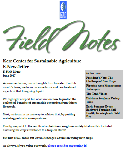 Field Notes – June 2017
