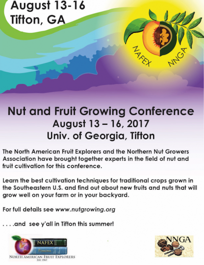 Conference: North American Fruit Explorers/North American Nut Growers @ Tifton, GA (University of Georgia) | Tifton | Georgia | United States