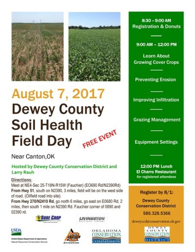Dewey County Soil Health Field Day @ Canton | Canton | Oklahoma | United States