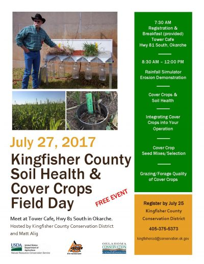 Registration Deadline:  Kingfisher County Soil Health & Cover Crops Field Day