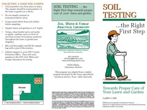 Soil Testing: The Right First Step