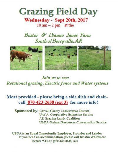 Grazing Field Day @ Berryville, AR (Buster & Dianne Janes Farm) | Berryville | Arkansas | United States