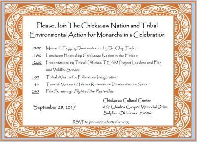 Tribal Monarch Celebration @ Sulphur (Chickasaw Cultural Center) | Sulphur | Oklahoma | United States
