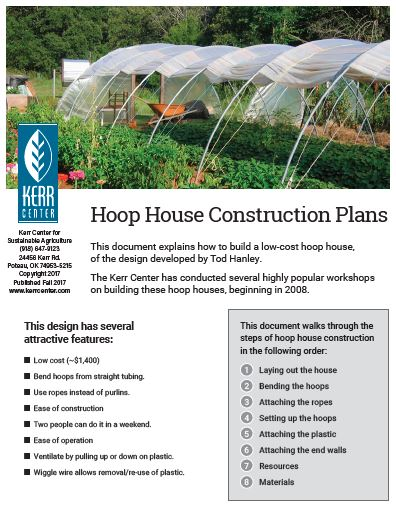 Hoop House Construction Plans