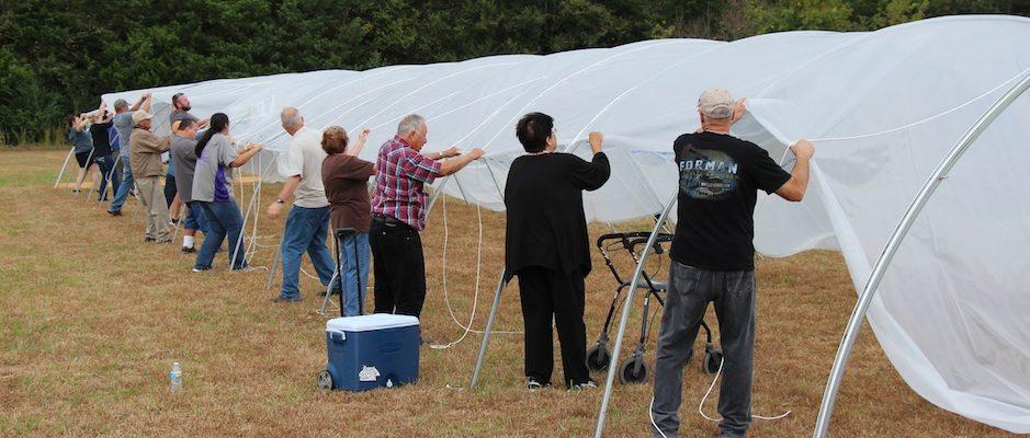 Choctaw Hoop House Workshop Recap