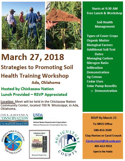 Strategies to Promote Soil Health Training Workshop
