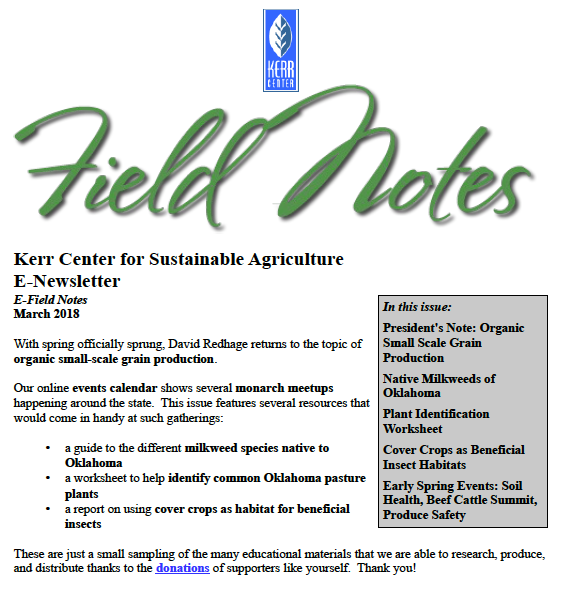 Field Notes – March 2018