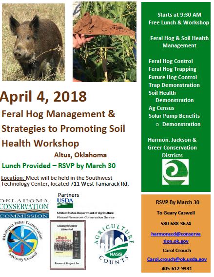 Feral Hog Management & Strategies to Promote Soil Health Workshop