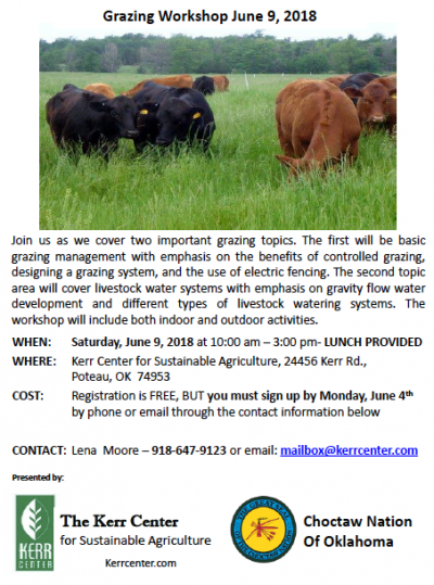 Grazing Workshop @ Poteau (Kerr Center)