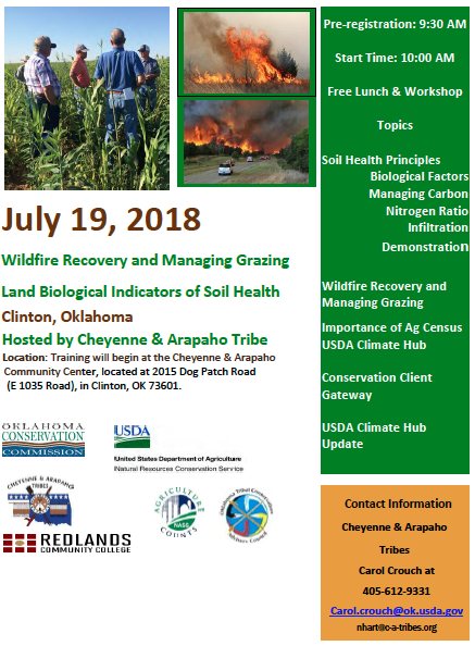 Workshop: Wildfire Recovery and Managing Grazingland Biological Indicators of Soil Health