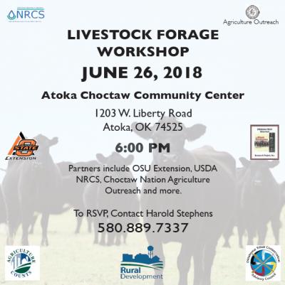 Livestock Forage Workshop @ Atoka (Atoka Choctaw Community Center)