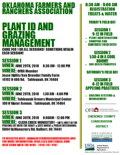 Workshop: Soil Health And Plant Identification @ Tahlequah (multiple locations)