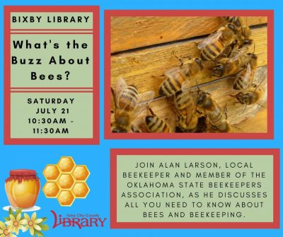 Workshop: What's the Buzz About Bees? @ Bixby (Bixby Library)