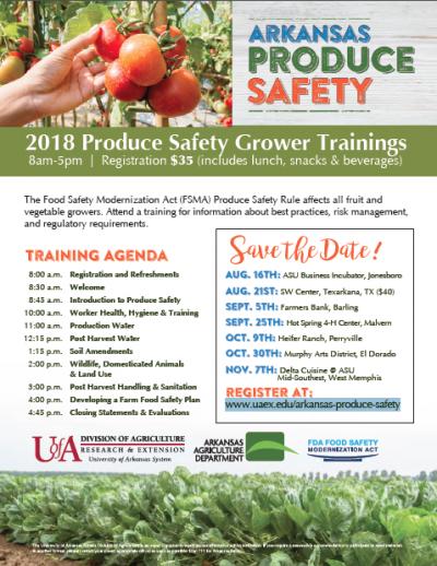 Produce Safety Alliance Grower Training @ Barling, AR (Farmers Bank Barling Branch)