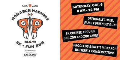 Monarch Madness 5K Fun Run @ Oklahoma City (OKC Zoo)