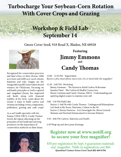 Workshop: Turbo Charge Your Corn-Soybean Rotation with Cover Crops & Grazing @ Bladen, NE (Green Cover Seed)